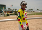 Jockey Daniel Centeno' -- Photo by Barry Unterbrink