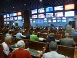The Silks wagering area at Gulfstream --Photo by Barry Unterbrink