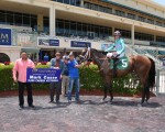 Reimburse after the second at Gulfstream, May 14, 2016, for trainer Mark Casse's2,000th career win --photo from Gulfstream