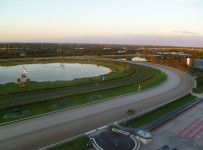 Calder's track,  from the seventh floor of the grandstand Photo:  Barry Unterbrink