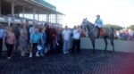 Chance of Luck in the winner's circle after the Inaugural Stakes Photo--Monique Welch