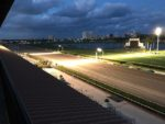 Gulfstream Park at dusk, Fountain of Youth 2017
